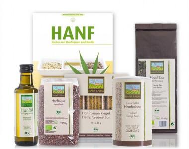 Probierset Hanf Bio mit Kochbuch